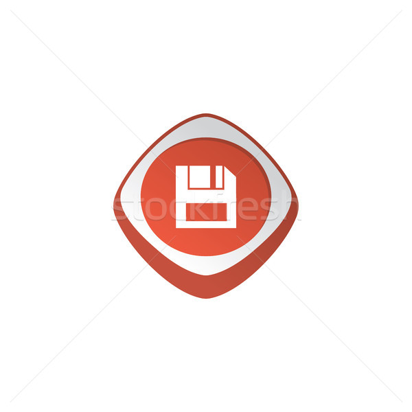 save glossy color app icon button game asset theme vector Stock photo © vector1st