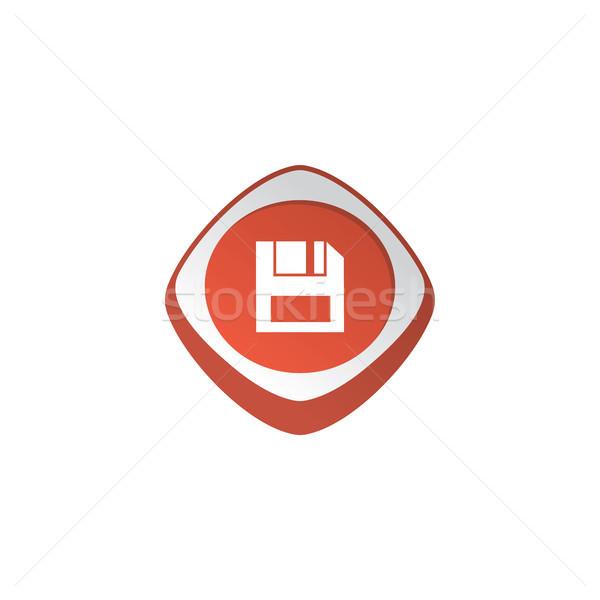 Sparen glänzend Farbe App Symbol Taste Stock foto © vector1st