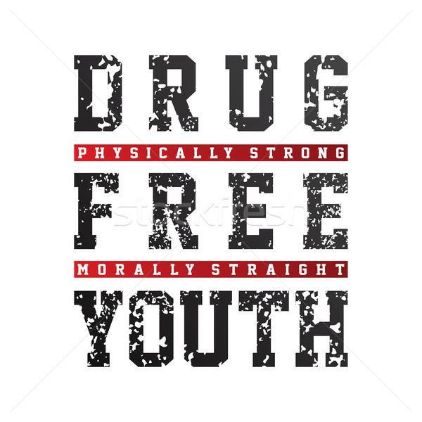 Drept margine medicament gratuit tineret campanie Imagine de stoc © vector1st