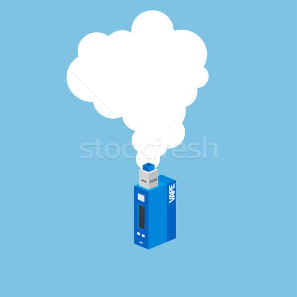 Izometrik elektrik sigara kişisel vektör sanat Stok fotoğraf © vector1st