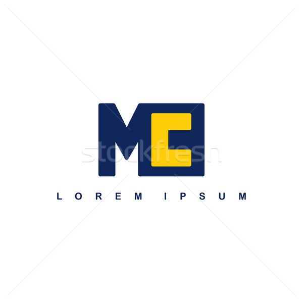 mc alphabet letter art theme logo logotype Stock photo © vector1st