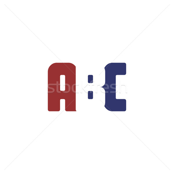 alphabet art logo logotype red and blue theme Stock photo © vector1st