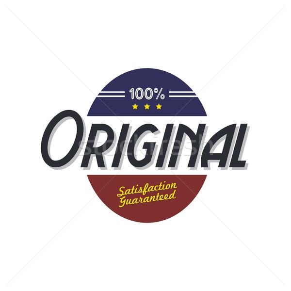 Originale qualità badge prodotto vettore arte Foto d'archivio © vector1st