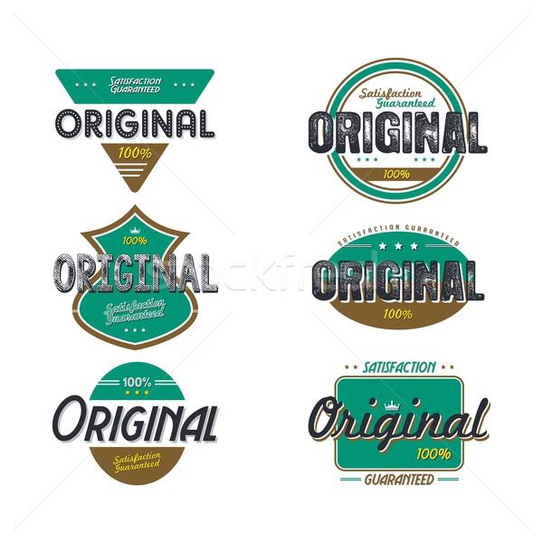 Original qualidade distintivo produto vetor arte Foto stock © vector1st