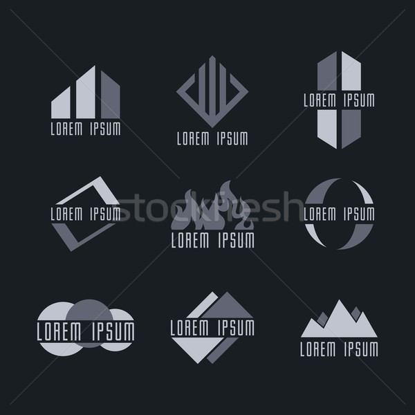 business icon logo template set Stock photo © vector1st