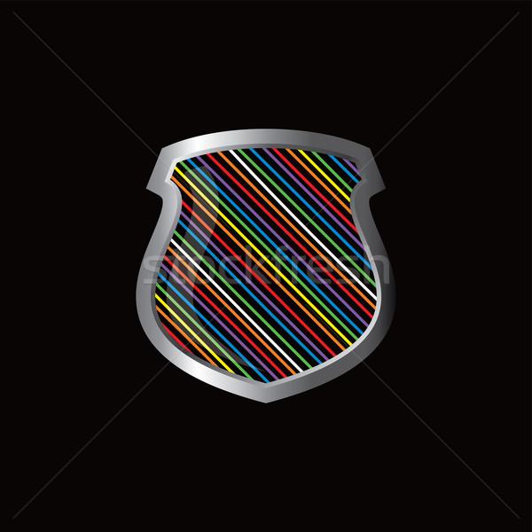 rainbow theme protector shield Stock photo © vector1st