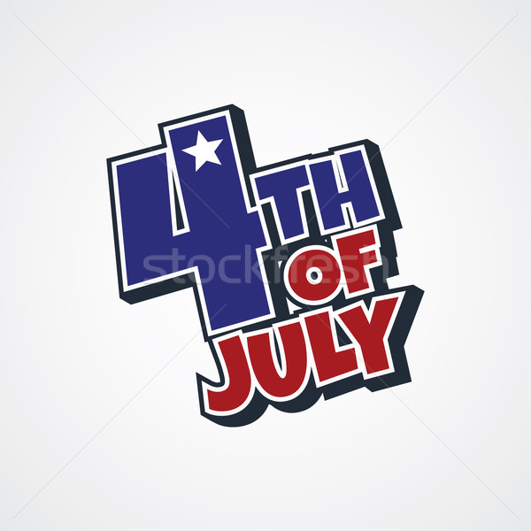 4th of july sign Stock photo © vector1st