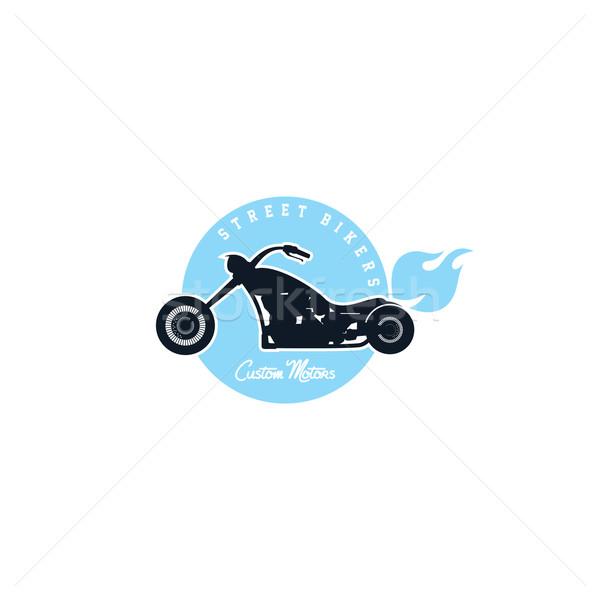 Gewoonte motorfiets fiets vector kunst illustratie Stockfoto © vector1st