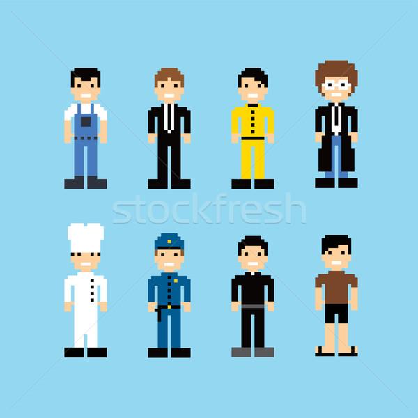 pixel people avatar set Stock photo © vector1st