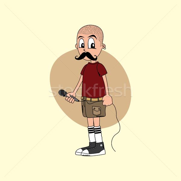 Mannelijke zanger muziek band vector Stockfoto © vector1st