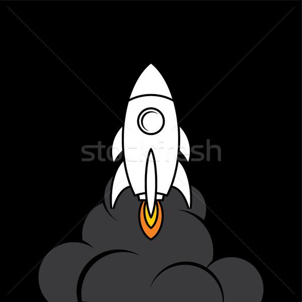 space rocket shuttle logo logotype Stock photo © vector1st