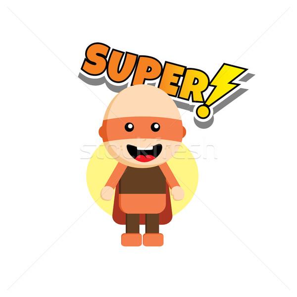Stílus szuperhős karakter avatar absztrakt terv Stock fotó © vector1st