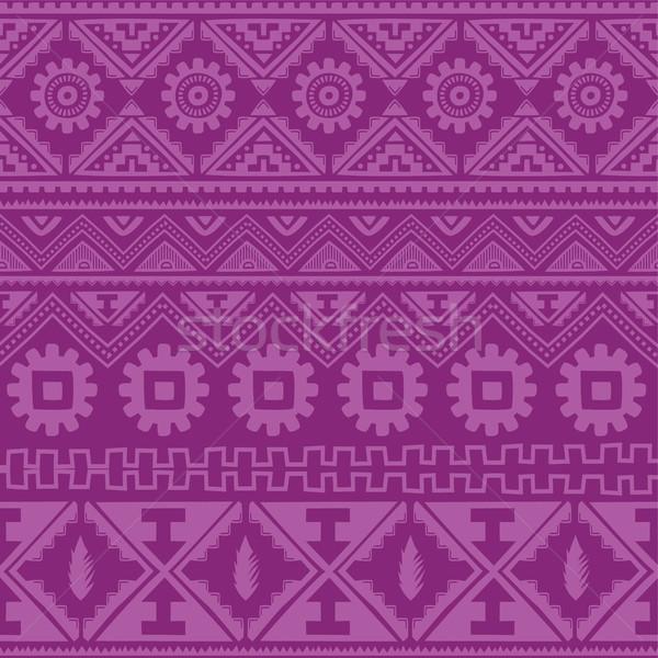 Viola nativo americano etnica pattern vettore Foto d'archivio © vector1st
