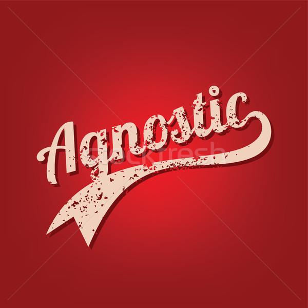 agnostic grungy theme varsity retro text vector Stock photo © vector1st