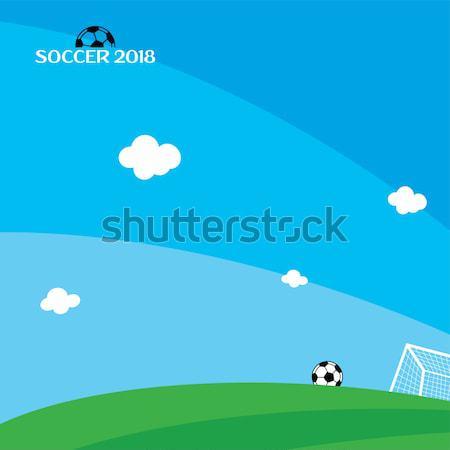 Rusia torneo de fútbol vector arte ilustración mundo Foto stock © vector1st