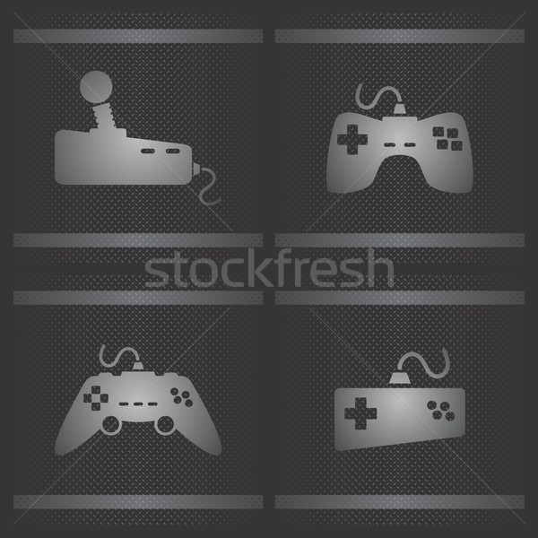 Jeu consoler vecteur graphique art Photo stock © vector1st