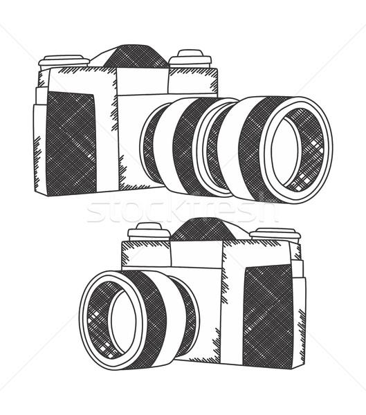 camera theme Stock photo © vector1st