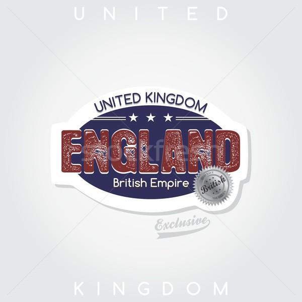 Anglii godło graficzne sztuki projektu niebieski Zdjęcia stock © vector1st