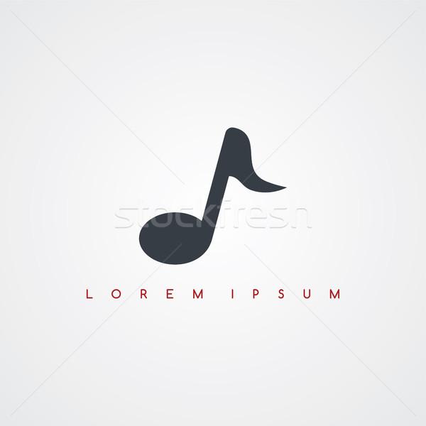 Audio musique icône signe vecteur Photo stock © vector1st