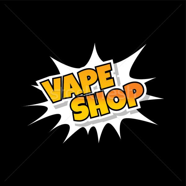 Foto stock: Elétrico · cigarro · vapor · vida · vetor · fogo