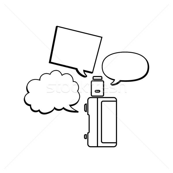 электрических сигарету пар жизни вектора огня Сток-фото © vector1st