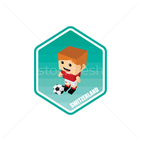 Football isométrique Suisse vecteur art cartoon Photo stock © vector1st