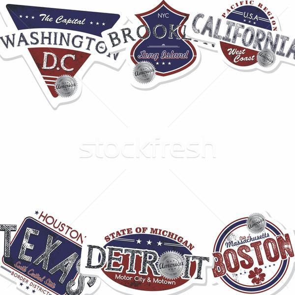 Amérique emblème graphique art design étiquette Photo stock © vector1st