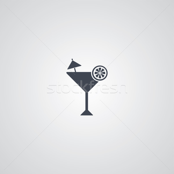 Martini cóctel vidrio vector arte Foto stock © vector1st