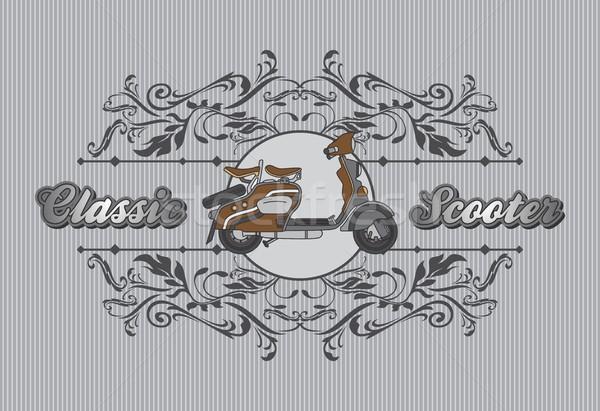Motocicleta arte vector gráfico diseno Foto stock © vector1st