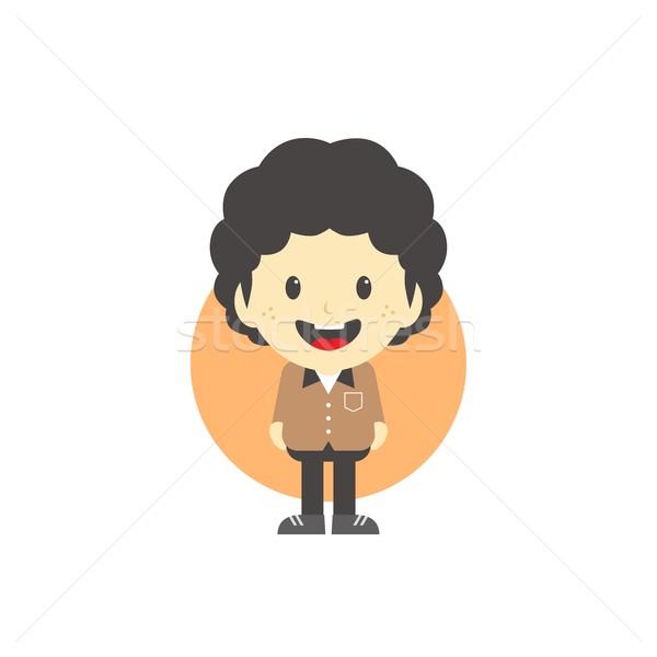Adorable nino gráfico arte cara Foto stock © vector1st