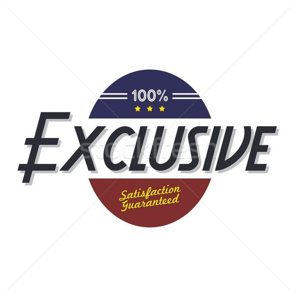 Exclusief kwaliteit badge product vector kunst Stockfoto © vector1st