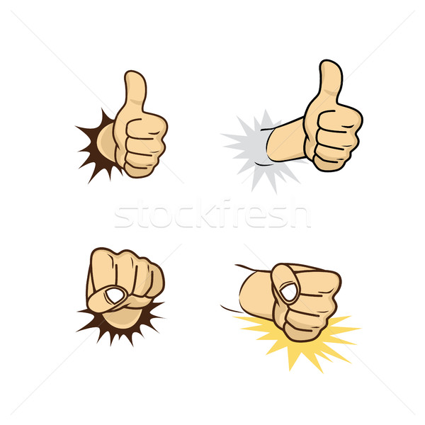 hand sign gesture cartoon theme Stock photo © vector1st