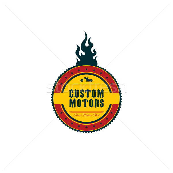 vintage motorcycle badge theme Stock photo © vector1st
