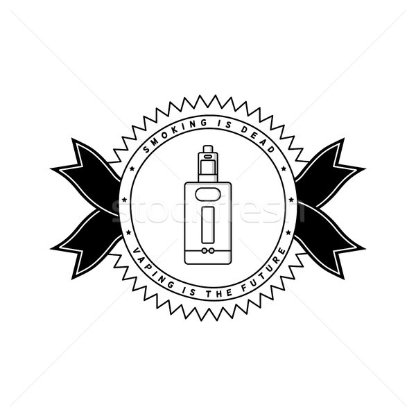 vaporizer electric cigarette vapor mod - badge label Stock photo © vector1st