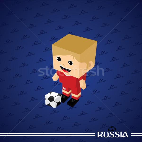 Сток-фото: группа · команда · Россия · футбольный · турнир · вектора · искусства