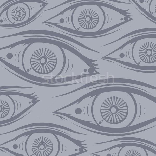 Szem egy vektor művészet illusztráció terv Stock fotó © vector1st