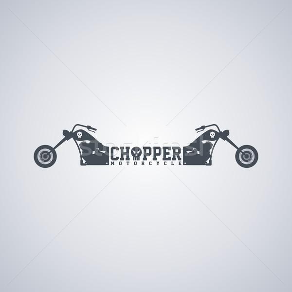 мотоцикл классический вектора искусства иллюстрация счастливым Сток-фото © vector1st