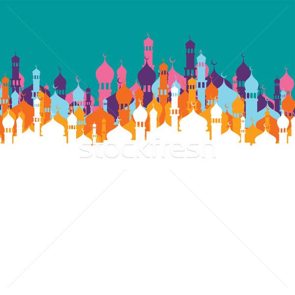 искусства мусульманских мечети вектора иллюстрация Сток-фото © vector1st