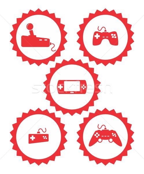 Videojáték művészet vektor grafikus terv illusztráció Stock fotó © vector1st