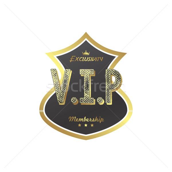 Vip membro distintivo vetor arte ilustração Foto stock © vector1st