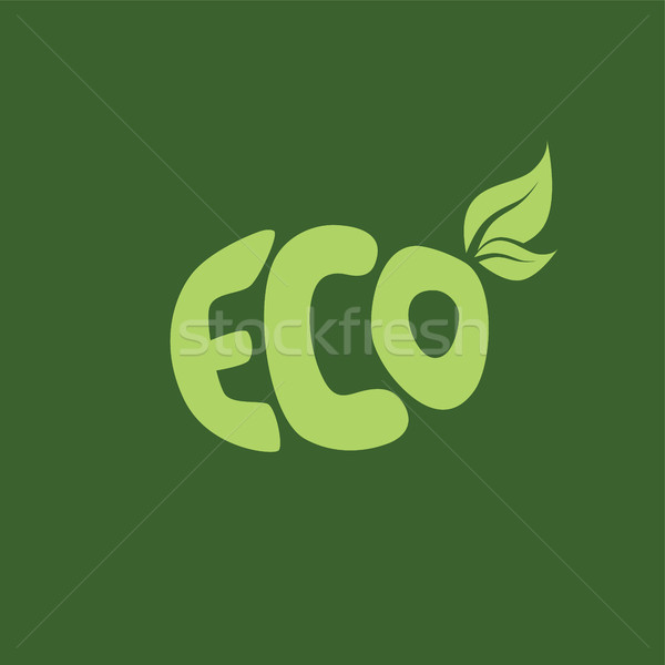 eco friendly natural label organic product sticker logo Stock photo © vector1st