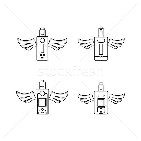Stock photo: electric cigarette personal vaporizer