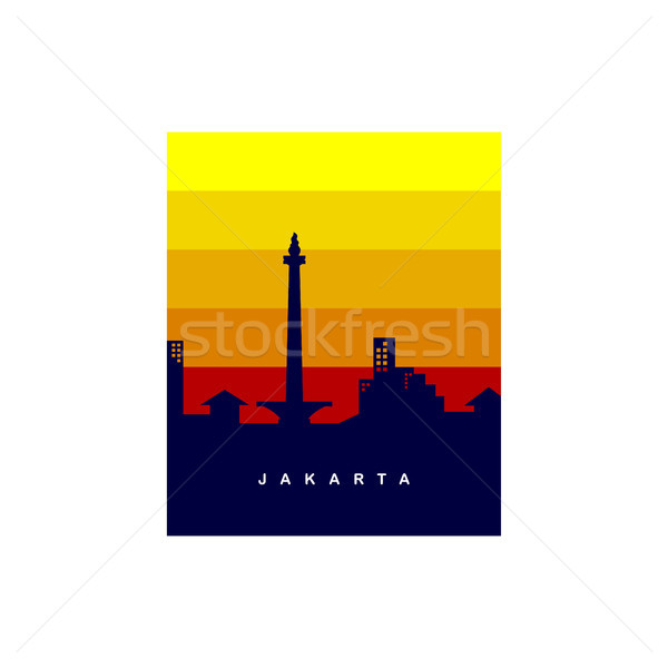 jakarta city logo template Stock photo © vector1st