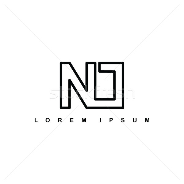 n alphabet letter art theme logo logotype Stock photo © vector1st