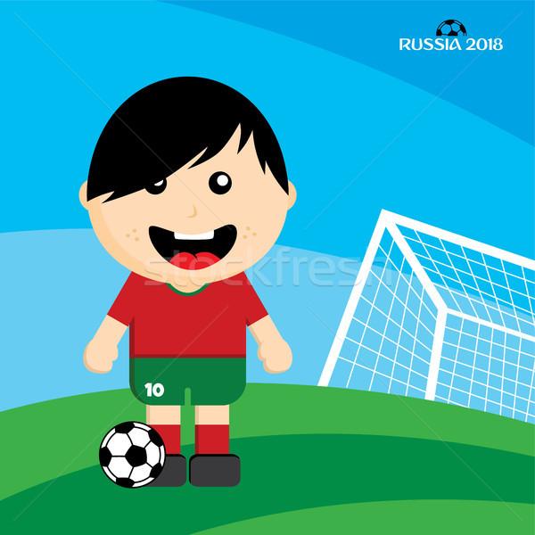 Csoport csapat futball-bajnokság Oroszország vektor művészet Stock fotó © vector1st