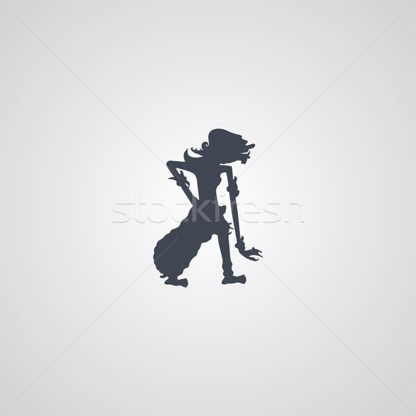 Endonezya kukla vektör sanat örnek gökyüzü Stok fotoğraf © vector1st