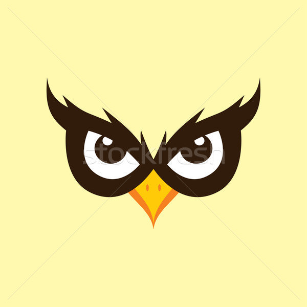 spooky owl illustration theme Stock photo © vector1st