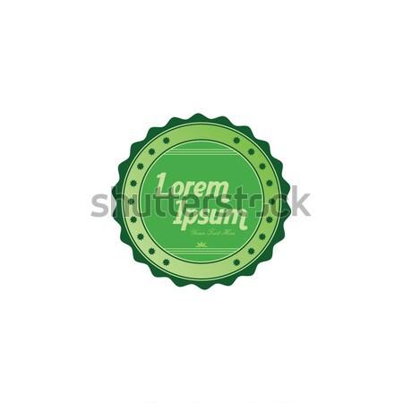 Taze çevre dostu yeşil etiket vektör sanat Stok fotoğraf © vector1st