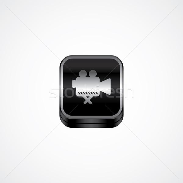 Metal prato ícone botão vetor arte Foto stock © vector1st