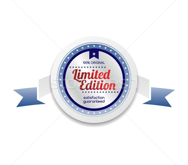 limited edition product sale and quality label sticker Stock photo © vector1st